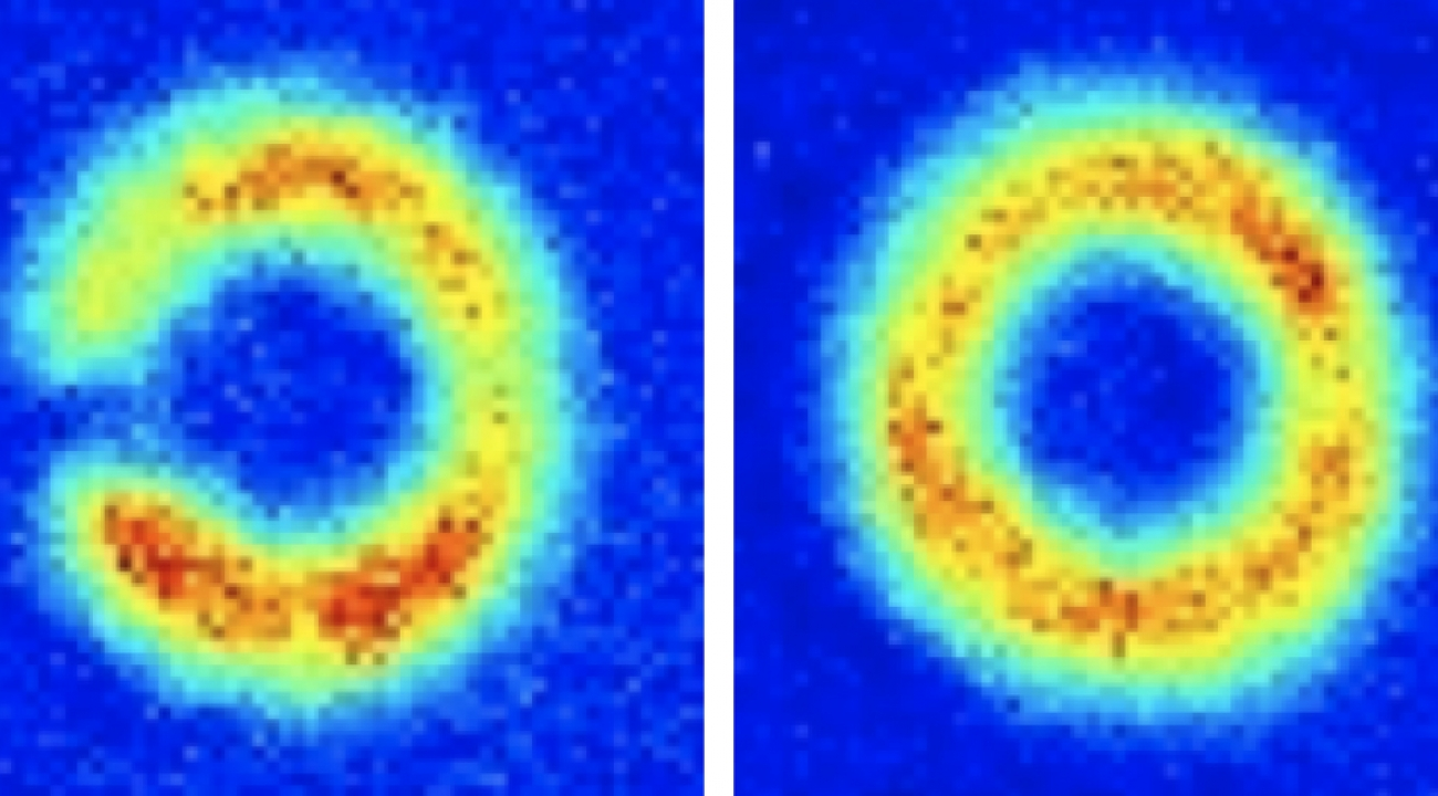False color images of atom circuit, JQI/NIST