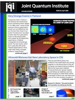 Cover of JQI Newsletter, April 2009