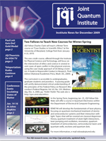 Cover of JQI Newsletter, December 2009