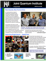 Cover of JQI Newsletter, June 2009