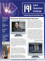 Cover of JQI Newsletter, November 2009