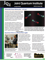 Cover of JQI Newsletter, October 2008