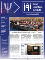 Cover of JQI Newsletter, October 2009